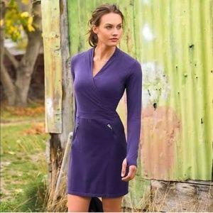 Athleta Dress Purple XS Suedy Lady Athletic vneck